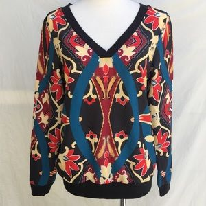 Tops - NWT YASB Multi-colored V-neck long sleeve top